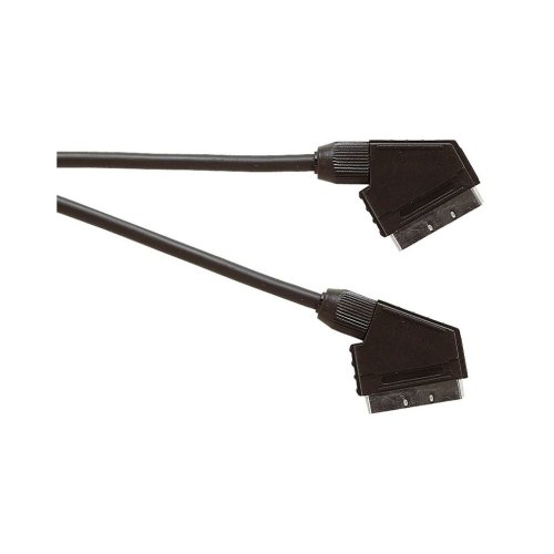 Premium Scart Plug to Scart Plug TV and Video Lead Audio and Video Circuits Connected