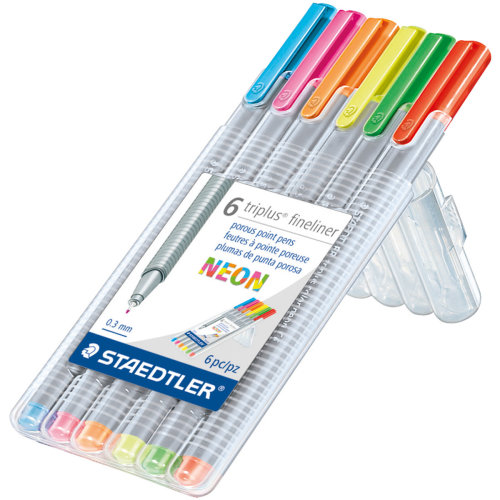 Triplus Fineliner Pens 6/Pkg