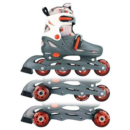 Nijdam Junior Inline Skates 30-33 Grey/Red/White 52QM