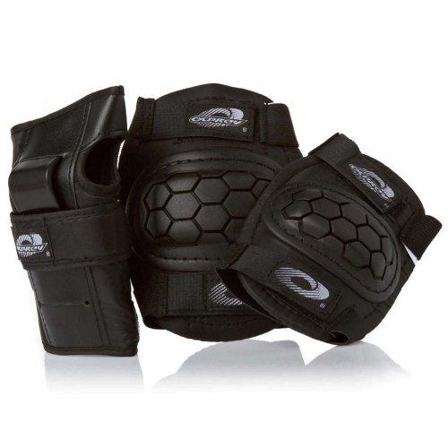 Osprey Kids' Skate BMX 6pc Knee, Elbow & Wrist Protective Set, Black, Small