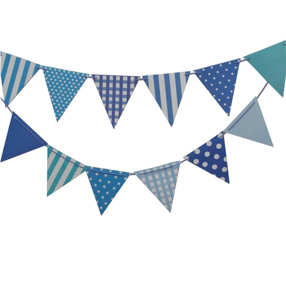 Set Of 2 [Blue] Stylish Party Banners Pennant Banner Party