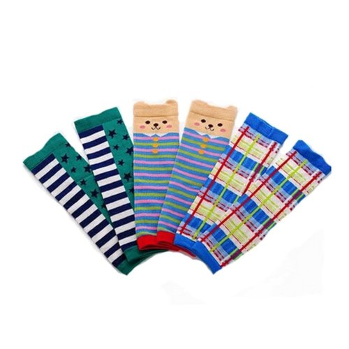 Baby Cotton Socks Baby Leggings Comfy Leg Guards,3 Sets?Stripe )