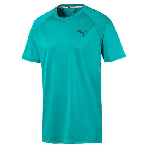 Puma Mens Short Sleeve Tech Running Fitness T-Shirt Shirt Tee Turquoise
