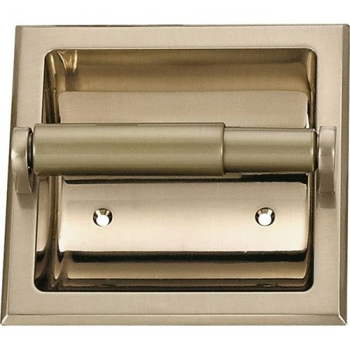 Mintcraft 766410 Recessed Toilet Paper Holder, Brushed Nickel