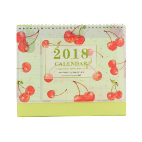 Creative Fruit Style 2017-2018 Office/Desk/Pad Calendar Notepad-Cherry
