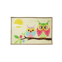 Good Morning Owls Lovely Cartoon Rug for Kids, Owl Rug