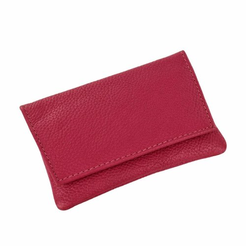 GTR-Prestige Giftware Smoking Accessories P35539PI - GBD Mini Pink Leather Patterned Roll Your Own Tobacco Pouch