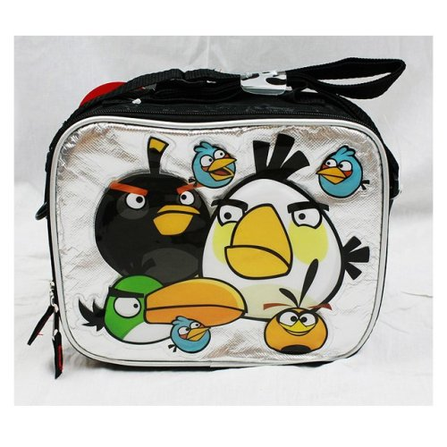 Lunch Bag - Angry Birds - Big White Bird Silver/Black New Boys Gifts an10892