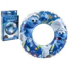 20' Smurfs Inflatable Swim Ring - Lost Village Swimming Kids Official -  smurfs lost village swim inflatable swimming ring kids official merchandise