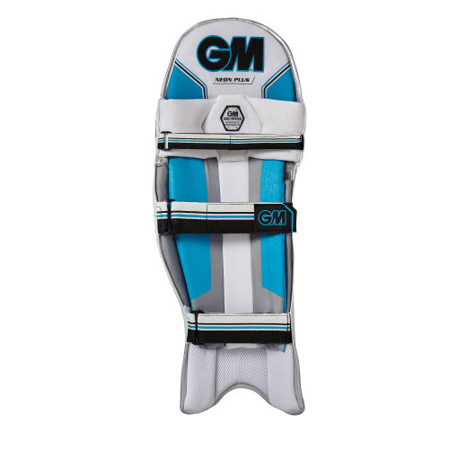 Gunn & Moore 2018 Neon Plus Cricket Batting Pads Leg Guards White/Blue