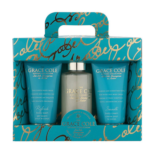 The Grace Cole Gifting Collection Luxury Bath & Body Set - Shower Gel, Foam Bath, Body Cream