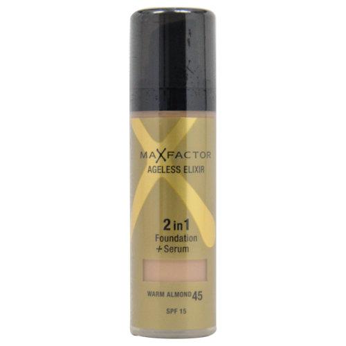 Max Factor Ageless Elixir 2in1 Foundation + Serum SPF 15 - 45 Warm Almond - 30 ml Foundation + Serum