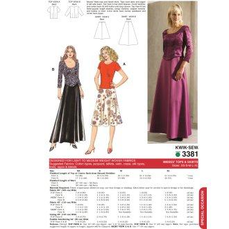 Tops & Skirts-XS-S-M-L-XL -*SEWING PATTERN*