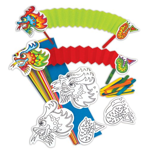 Concertina Dragons Chinese New Year Craft Activity Pack (Pack of 30)