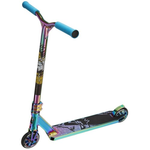 (Neochrome Rainbow) Team Dogz Pro X Ultimate Kids' Stunt Scooter Special Edtion