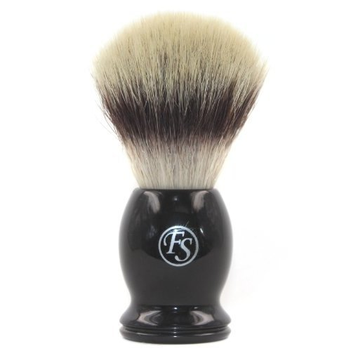 Frank Shaving Pur-tech Synthetic Hair Shaving Brush -Quality Shaving Brush Black Handle Knot Size 21mm --Comes with Free Stand