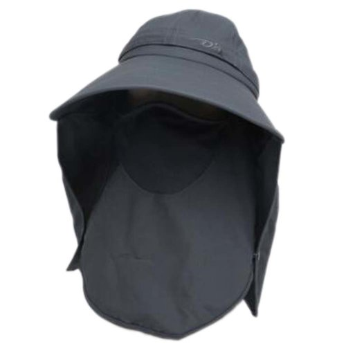 Womens Wide Brim Neck Cover Sun Flap Cap Summer Hat Face Mask UPF 50+ Detachable