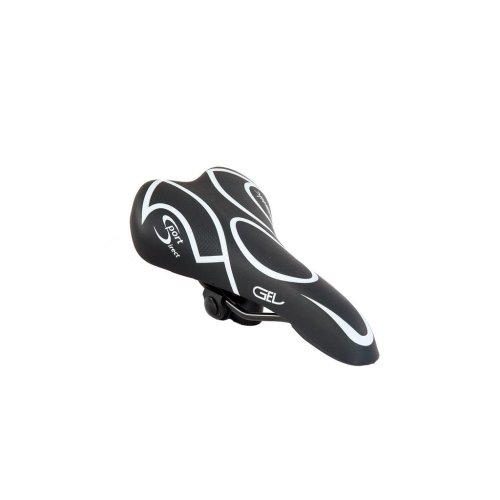 Male Gel Layer Cycle Saddle - Black/White