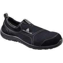 Delta Plus Miami Black Canvas Slip On Safety Trainers