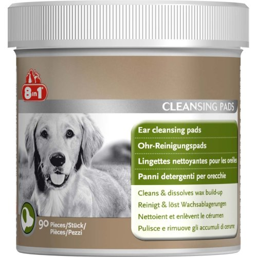 8in1 Dog Ear Cleansing Pads 90pk