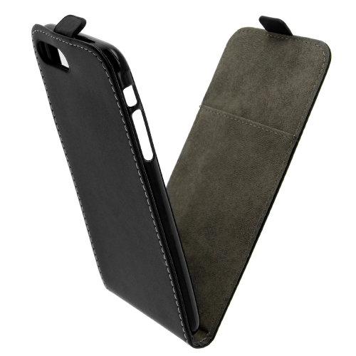 Vertical flip case, synthetic leather case for iPhone 7 Plus/ 8 Plus – Black