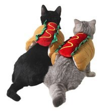 Pet Hot Dog Dress Up Costume Adjustable Clothes