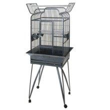 Strong Parrot Cage Villa Andrea Silverstone Grey 68x55x160 cm 93022