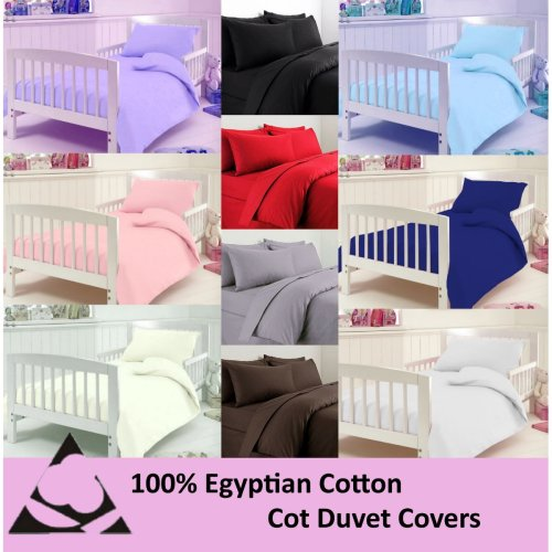 Egyptian Cotton 200 Thread Cot Duvet Cover Bedding Set with Pillow Case