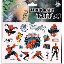 Spiderman Tattoo Sheet