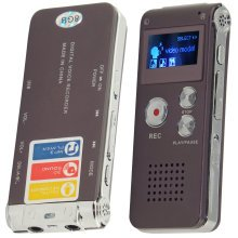 8GB Rechargeable Digital Sound Voice Recorder Dictaphone MP3 Player