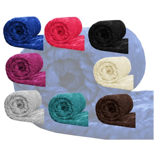 Faux Fur Throw Fleece Blanket Mink Sofa Bed