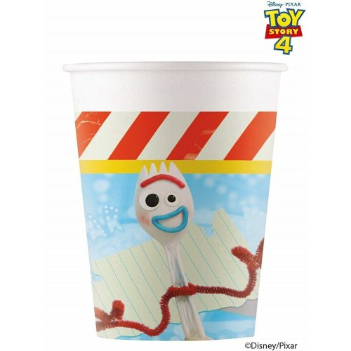 Pack of 8 Toy Story 4 Paper Cups - 200 ml - Disney Pixar Party Tableware