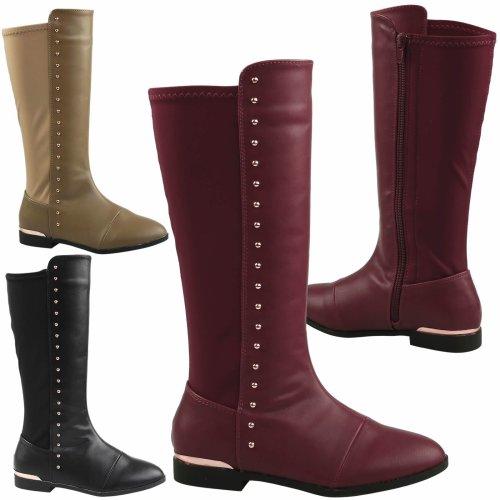 Dora Girls Kids Flat Mid Calf Boots Childrens Studded Size