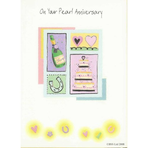 On your Pearl Anniversary Card