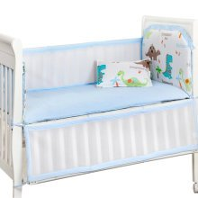 Set of 4 Nursery Baby bassinet/Crib Bedding Bumper Crashproof Cushion Dinosaur