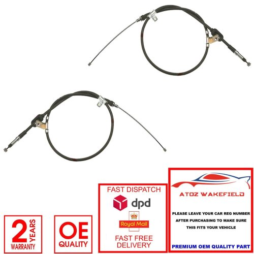 LAND ROVER FREELANDER 1 2 REAR LEFT RIGHT HAND BRAKE CABLES OE QUALITY FIRSTLINE