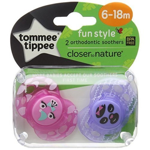 Tommee Tippee Ctn Fun Soothers 6-18m -  tommee tippee style fun pack 618 618m soothers 2 bpa free