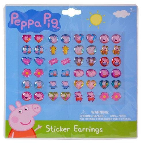 Nickelodeon Peppa Pig 24 Pair Sticker Earringsâ(2 Pack)