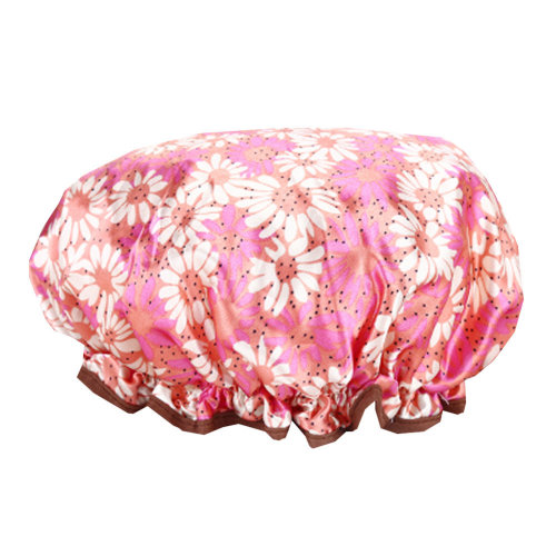 2PCS Shower Cap,Bath Cap-Elastic Band,Extra Large,Won't Fall Off Your Head Designed for Women#U