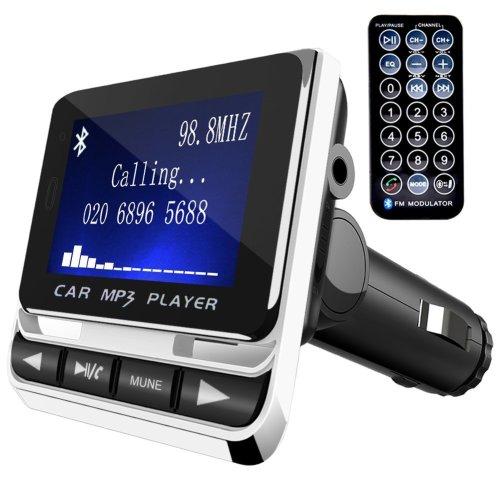 FM Transmitter,Tinzzi Car Transmitter MP3 Player Hand-Free Calling