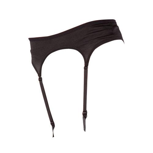 Silky Womens/Ladies Narrow Satin Black Suspender Belt Large (UK Dress 14) (Black)