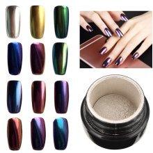 Magic Mirror Chrome Effect Metallic Powder Additive Pigment Nail Art 10 Colors To Choose