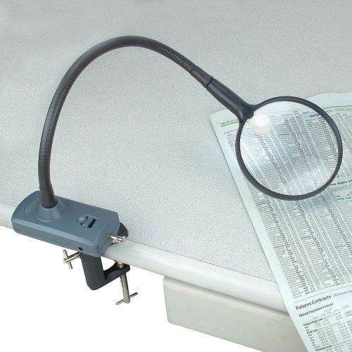 Carson MagniFlex Flexible Arm Lighted Hands-Free Magnifier-