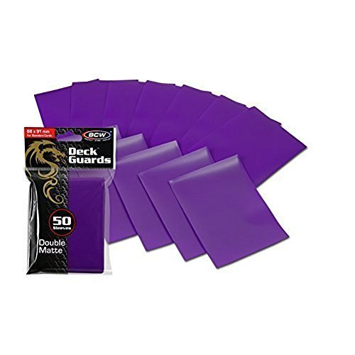 300 Premium Purple Double Matte Deck Guard Sleeve Protectors for Gaming Cards like Magic The Gathering MTG, Pokemon, YU-GI-OH!, & More.