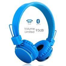 Volume Limited + Wireless Bluetooth Kids Headphones (Blue)