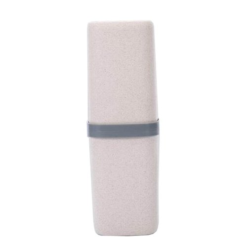 Portable Travel Toothbrush Toothpaste Holder Case Useful Travel Mug, Beige