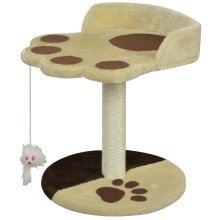 vidaXL Cat Scratching Post 40 cm Yellow and Brown