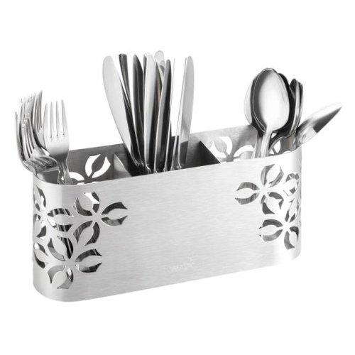Rosseto SM263 Iris Cutlery Holder, Stamped Brushed Stainless Steel