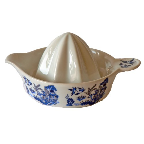 Ceramic juicer with Traditional Blue Willow Pattern Design