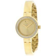 Movado Bold Gold-Tone Ladies Watch 3600322